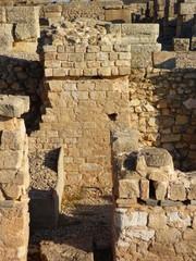 Ciudad romana de Valeria en Cuenca.Yacimiento romano en la Hoz del río Gritos en la localidad de Valeria, municipio de Las Valeras en Castilla-La Mancha (España)