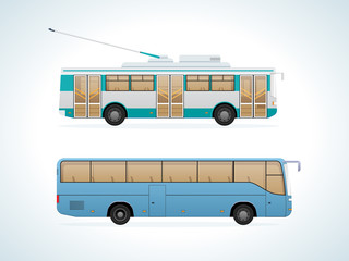 Passenger public urban transport: municipal trolley bus and intercity bus.