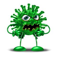 Cartoon Virus Character