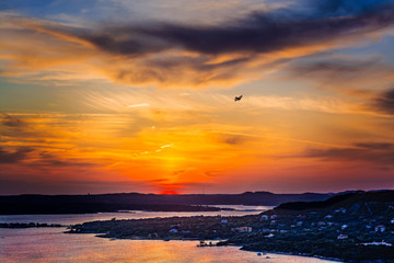 Sunset Biplane