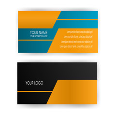 clean business card template illustration vector isolated background