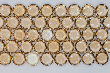 Wall Mural - top view of Yellow sapphire diamonds Yellow sapphire diamonds on the white background