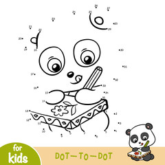 Numbers game, education game for children, Panda