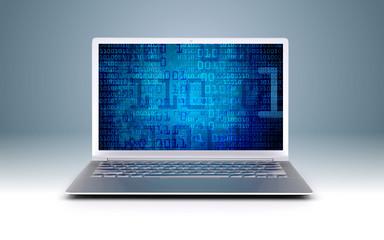 modern Ultrabook - binary code