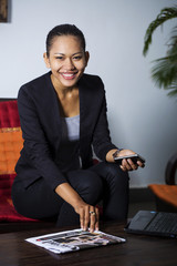 Young South East Asian woman, a Cambodian business woman traveller, Cambodia, Southeast Asia, Asia