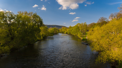River Saale in Jena (Thuringia, Germany)