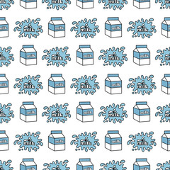 Cartoon Cute Milk Seamless Pattern