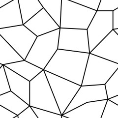 Polygonal black and white background. Seamless pattern