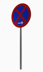 Deutsche Verkehrszeichen: Ende absolutes Halteverbot.