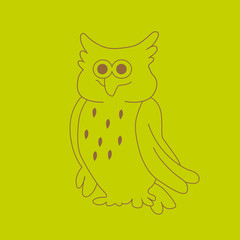 Vector of an owl design on white background, Wild Animals.