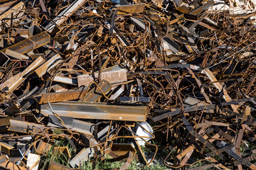 Rusty Iron Debris Stacking