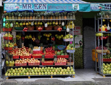 Amazing fruit juice shop