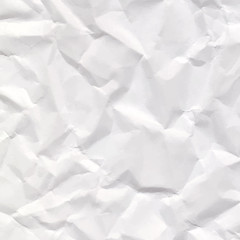 Crumpled paper texture background. Vector illustration