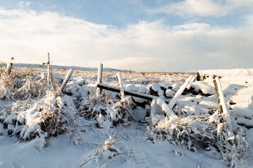 Snow on the moors, Yorkshire