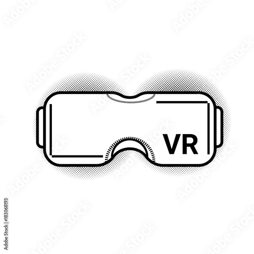 63c13cbc813 Vr Glasses Modern Virtual Reality Goggles Or Headset Isolated On White  Background Vector Illustration
