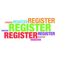 Register word typography artwork design