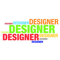 Designer typography word