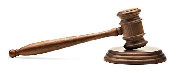 judge gavel isolated on white background