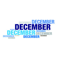 December month typography