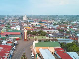 Cityscape of Diriamba town