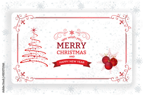 Christmas And New Year Greeting Card.Christmas background with ...