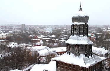 Panorama of Tomsk city, Russia, Siberia