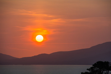 Sunset over Bearra Peninsular on the Wild Atlantic Way