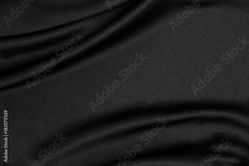 Black Fabric Texture Background Smooth Elegant Black Silk Can Use
