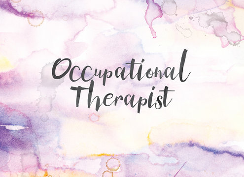 Occupational Therapist Concept Watercolor and Ink Painting