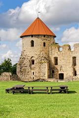 Mittelalterliche Burg in Cesis, Lettland