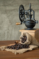 coffee in the morning. Still life photograph.
