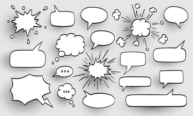 Set of speech bubbles. Wall mural