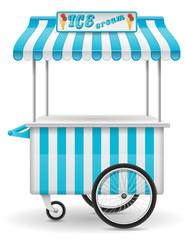 street food cart ice cream vector illustration