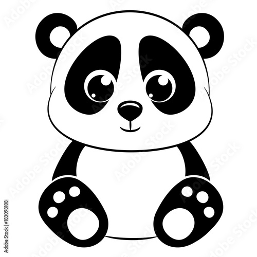 cute panda on white background stock image and royalty free vector