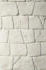 New decorative white wall closeup