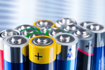 batteries, isolated on white.
