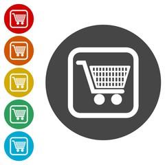 Shopping icon, Shopping cart icon