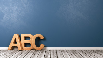 ABC Letters on Wooden Floor
