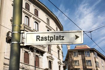 Schild 242 - Rastplatz