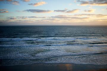 Sunset over a calm ocean in Florida, USA