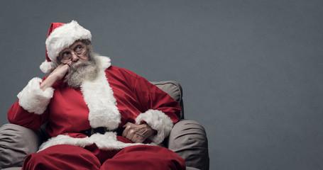 Lazy Santa waiting for Christmas