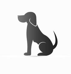 Pet dog icon logo