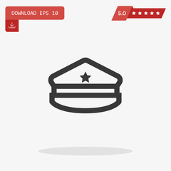 military hat vector icon