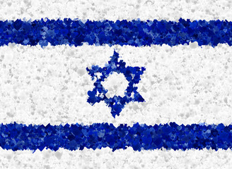 Israeli flag with heart  motives