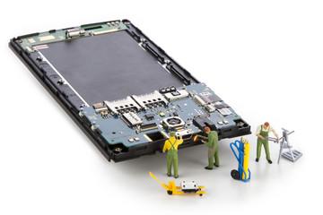 Repair usb connector in smartphone