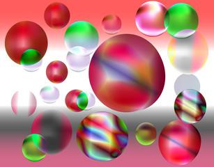 vector colorful decorative ball