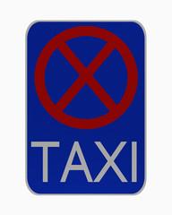 deutsches Verkehrsschild: Taxistand