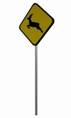 Verkehrsschild USA: Wildwechsel