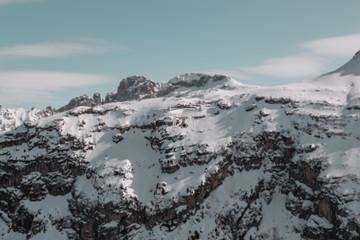 drone flying in winter
