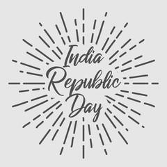 India Republic Day Retro Vintage vector typography text design. EPS 10